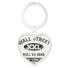 property of wall street Heart Keychain