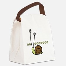 Be Awesome snail Lg Canvas Lunch Bag