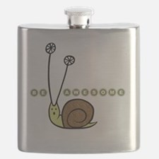 Be Awesome snail Lg Flask