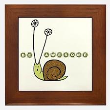 Be Awesome snail Lg Framed Tile