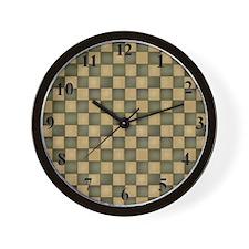 clockgreenchecks Wall Clock
