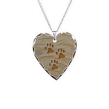 charm earring heart paws sand Necklace