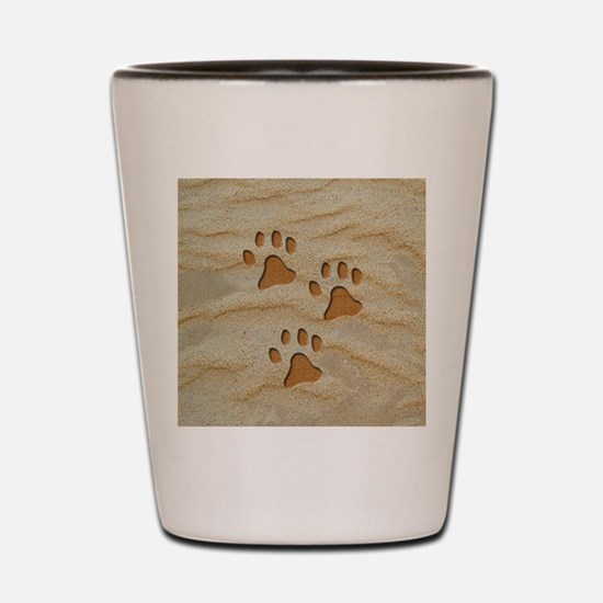 charm earring round paws sand Shot Glass