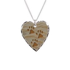charm earring round paws sand Necklace