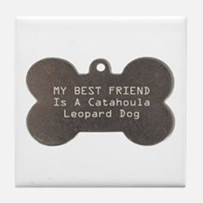 Friend Catahoula Tile Coaster
