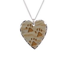 necklace oval paws sand Necklace
