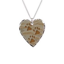necklace round paws sand Necklace