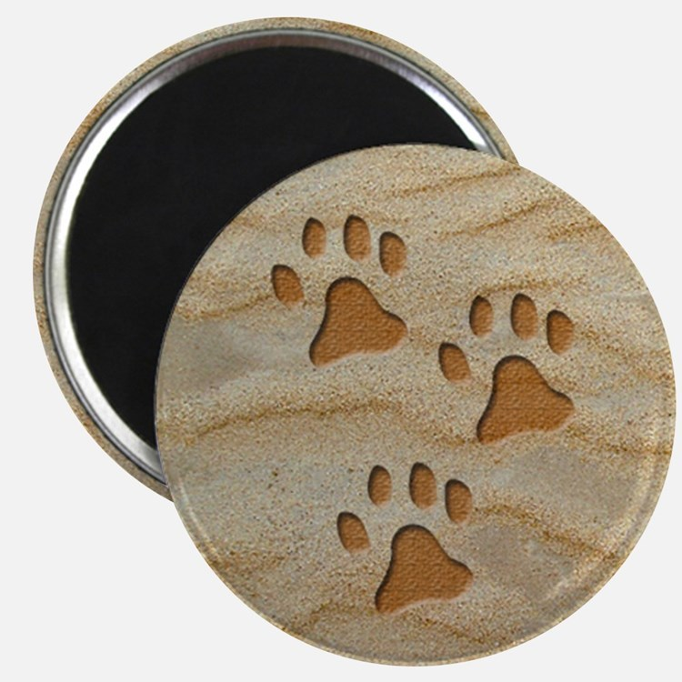 necklace round paws sand Magnet