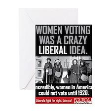 women voting Greeting Card