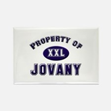Property of jovany Rectangle Magnet