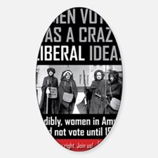 women voting Decal