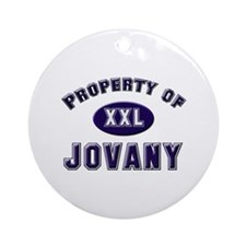 Property of jovany Ornament (Round)