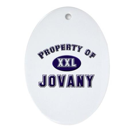 Property of jovany Oval Ornament