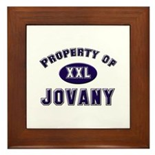Property of jovany Framed Tile