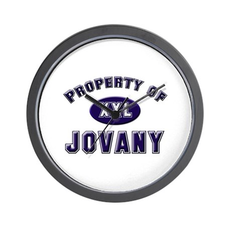 Property of jovany Wall Clock