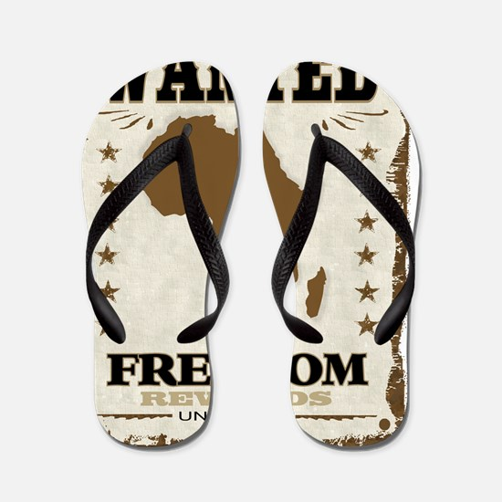 Wanted Africas Freedom unlimited Flip Flops