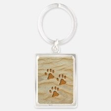 charm earring oval paws sand Portrait Keychain