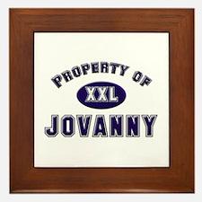 Property of jovanny Framed Tile