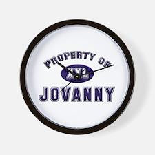 Property of jovanny Wall Clock