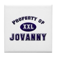 Property of jovanny Tile Coaster