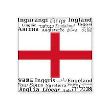 """England-Multi Square Sticker 3"""" x 3"""""""