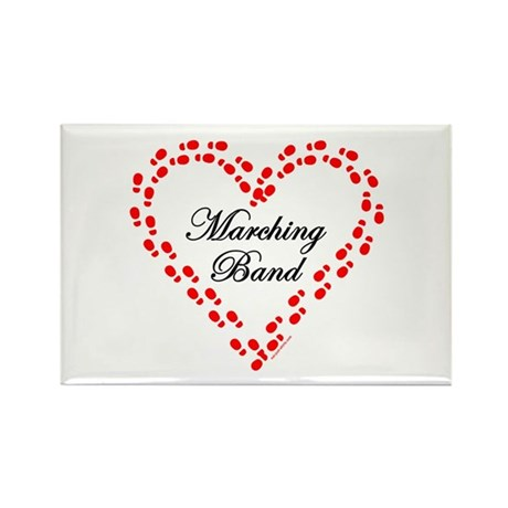 Red Marching Band Heart Rectangle Magnet (10 pack)
