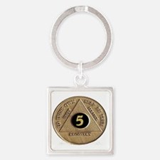 5coin Square Keychain