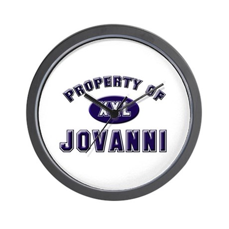 Property of jovanni Wall Clock