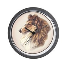 Vintage Sable Collie Wall Clock