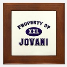 Property of jovani Framed Tile