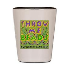 throwMEbeadsBgSq Shot Glass
