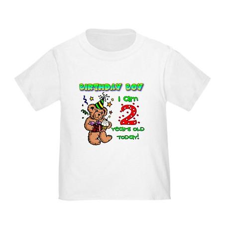 Birthday Boy Age 2 Toddler T-Shirt