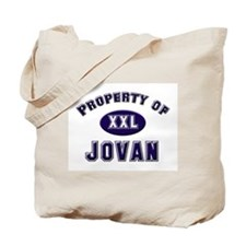 Property of jovan Tote Bag