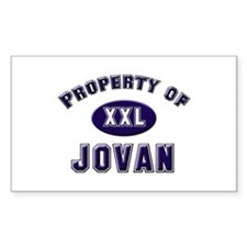 Property of jovan Rectangle Decal