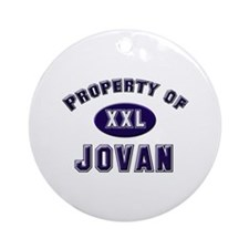 Property of jovan Ornament (Round)
