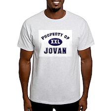 Property of jovan Ash Grey T-Shirt