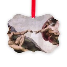 Creation of Adam Picture Ornament