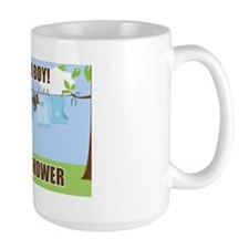 Its a Boy Clothesline Baby Shower Sign Mug