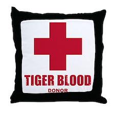 TigerBlood Throw Pillow