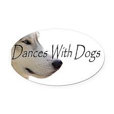 DanceswithDogs Oval Car Magnet
