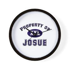 Property of josue Wall Clock