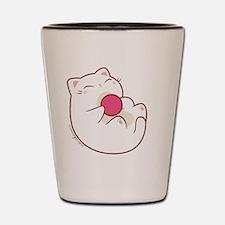Kitty Loves Ball Tee Shot Glass