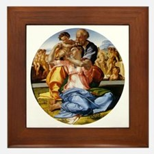 The Holy Family with Infant St John Framed Tile