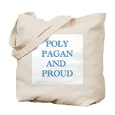 Poly pagan and proud words Tote Bag