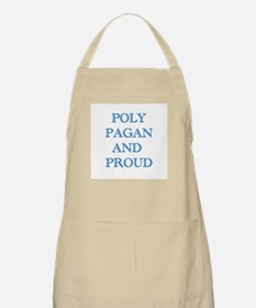 Poly pagan and proud words BBQ Apron
