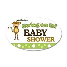 Monkey Baby Shower Yard sign Wall Decal