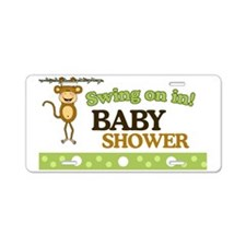 Monkey Baby Shower Yard sig Aluminum License Plate