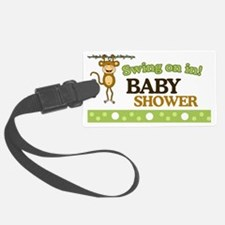 Monkey Baby Shower Yard sign Luggage Tag