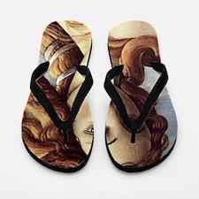 The Birth of Venus (detail) Flip Flops