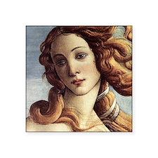"The Birth of Venus (detail) Square Sticker 3"" x 3"""